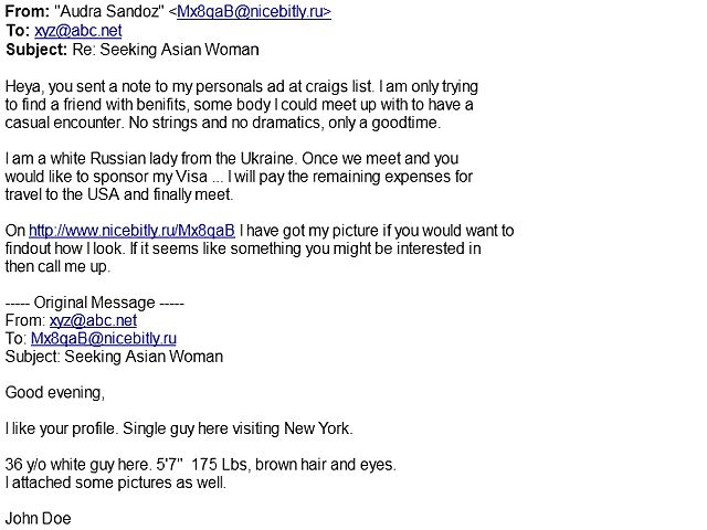 dating site email scams